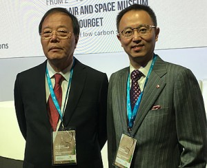 Chen Zhen, Secretary General of CEDAAB (left) and Leon Qiu, Vice Secretary General of CEDAAB and Principal at DLR Group