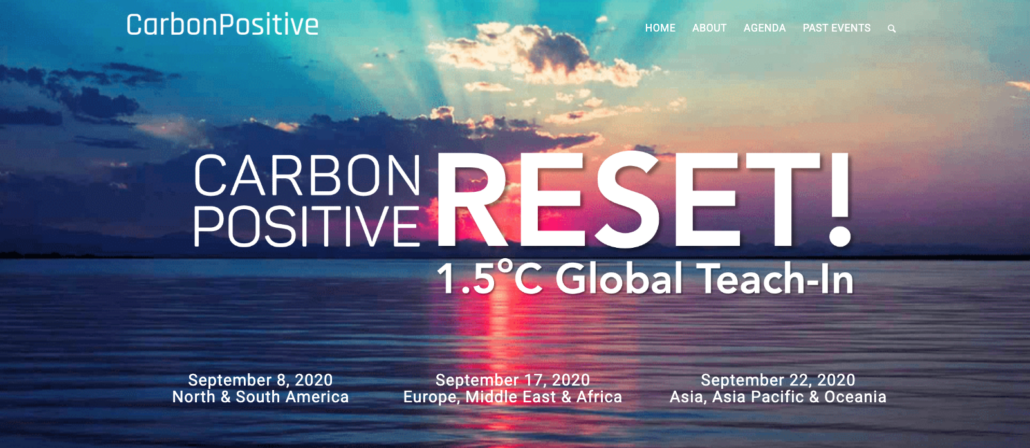 CarbonPositive RESET: September 8, 17, and 22 2020